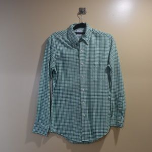 Brooks Borthers Small Gingham green slim fit shirt
